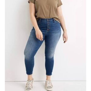 Madewell NWT Skinny Jeans Button Fly Size 22W
